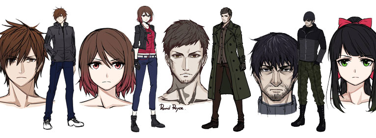 Character Sketches for the New Version of VOID